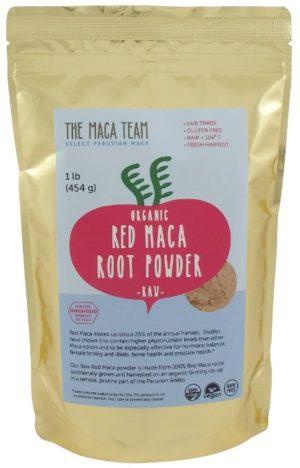 raw red maca root powder