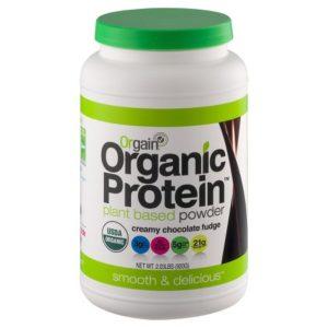 orgain chocolate hemp protein powder