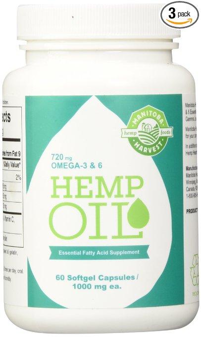 Manitoba hemp oil capsules