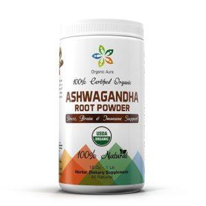 Organic Aura Ashwagandha root powder
